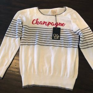 Chaser brand Champagne sweater